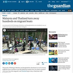 Malaysia and Thailand turn away hundreds on migrant boats