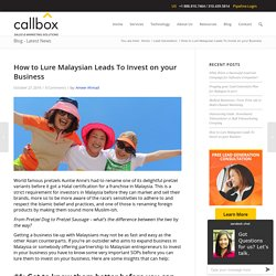 How to Lure Malaysian Leads To Invest on your Business