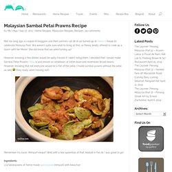 Malaysian Sambal Petai Prawns Recipe