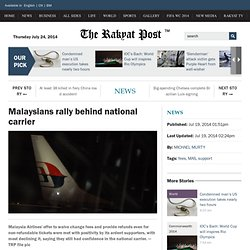 Malaysians rally behind national carrier