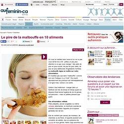 Malbouffe: la malbouffe en 10 alliments - 10 produits de junk food