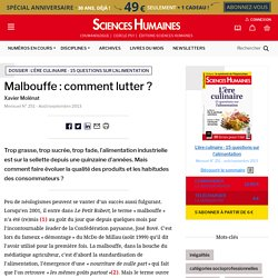 Malbouffe : comment lutter ?