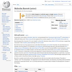 Malcolm Barrett (actor) - Wikipedia