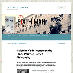 Malcolm X's Influence on the Black Panther Party's Philosophy