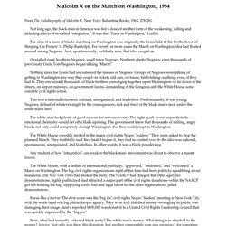 Malcolm X the 'farce' on Washington speech, 1964