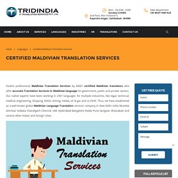 What is the Need for Maldivian Translation in China?