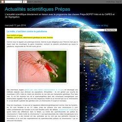 Actualités scientifiques Prépas : Le mâle, c'est bien contre le paludisme