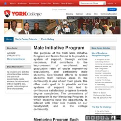Male Initiative Program — Men's Center
