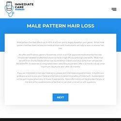 Male Pattern Hair Loss - Immediate Care Online