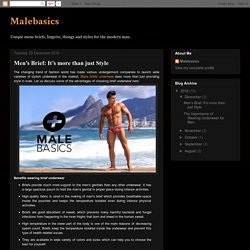 Malebasics: Men's Brief: It's more than just Style