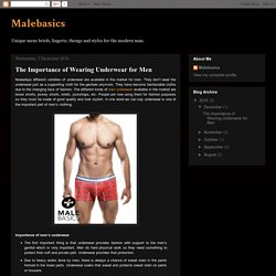 Malebasics: The Importance of Wearing Underwear for Men