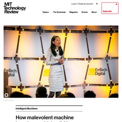 How malevolent machine learning could derail AI