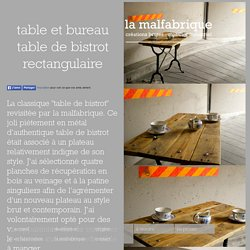 la malfabrique : table et bureau table de bistrot rectangulaire