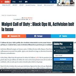 Malgré Call of Duty: Black Ops III, Activision boit la tasse