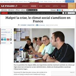 Malgré la crise, le climat social s'améliore en France