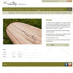 MALIBU - Balsa Wood Surfboards by Kun_tiqi - Balsa Wood Surfboards by Kun_tiqi