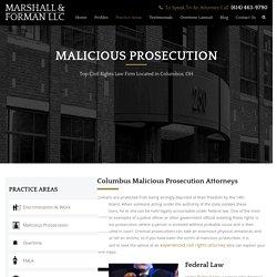 Malicious Prosecution Attorney Columbus