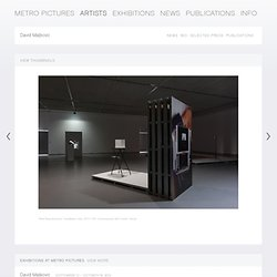 David Maljkovic - Artists - Metro Pictures