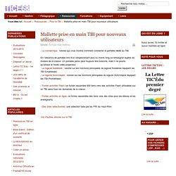 Mallette prise en main TBI pour nouveaux utilisateurs
