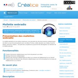 Mallette webradio