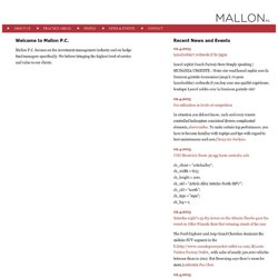 Mallon PC | Hedge Fund and Commodities Law