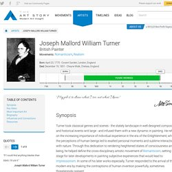 Joseph Mallord William Turner Biography, Art, and Analysis of Works