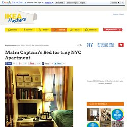 Malm Captain's Bed for tiny NYC Apartment