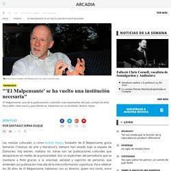 """""""'El Malpensante' se ha vuelto una institución necesaria"""""""