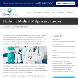 Medical Malpractice Lawyer in Nashville, TN - Cummings Law