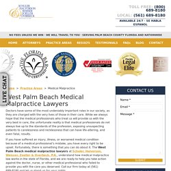 West Palm Beach Medical Malpractice Lawyers, Medical Negligence Attorney
