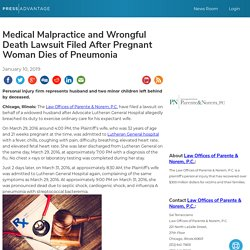 Medical Malpractice and Wrongful Death Lawsuit Filed After Pregnant Woman Dies of Pneumonia