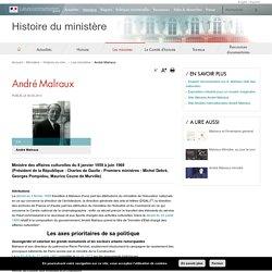 André Malraux - Histoire du ministère