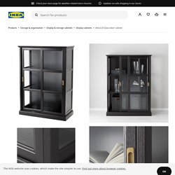 """MALSJÖ Glass-door cabinet, black stained black stained, 40 1/2x18 7/8x55 1/2"""""""