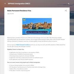 Malta Permanent Residence Visa