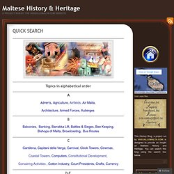 QUICK SEARCH | Maltese History & Heritage