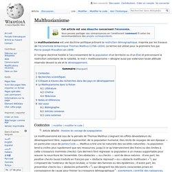 Malthusianisme