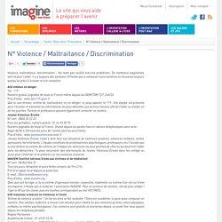 N° Violence / Maltraitance / Discrimination