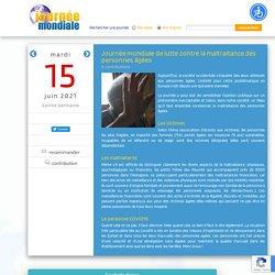 Journée mondiale de lutte contre la maltraitance des personnes âgées, le 15 juin