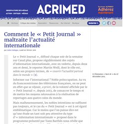 Comment le « Petit Journal » maltraite l'actualité internationale