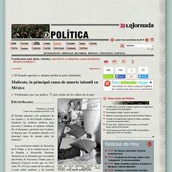 Maltrato, la principal causa de muerte infantil en México