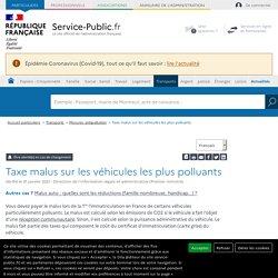 Malus et taxe CO₂ pour un véhicule polluant
