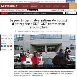 Le procès des malversations du comité d'entreprise d'EDF-GDF commence aujourd'hui