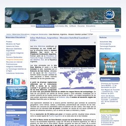 Islas Malvinas, Argentina - Mosaico Satelital Landsat 7 ETM+