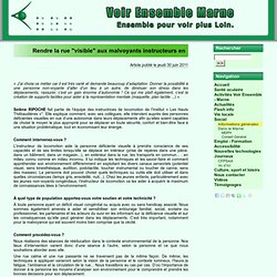 """Rendre la rue """"visible"""" aux malvoyants instructeurs en locomotion - Voir Ensemble Marne"""