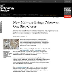 New Malware Brings Cyberwar One Step Closer