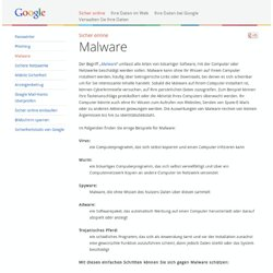 Malware – Gut zu wissen – Google