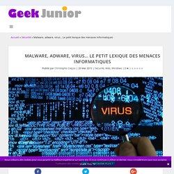 Malware, adware, virus... Le petit lexique des menaces informatiques