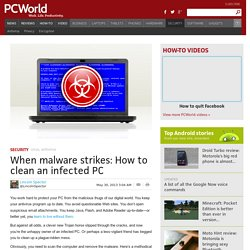 When malware strikes: How to clean an infected PC
