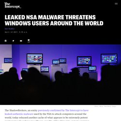 Leaked NSA Malware Threatens Windows Users Around the World