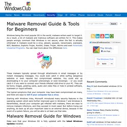 Malware & Virus Removal Guide & Tools for Windows